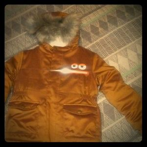 Boys fur hood coat
